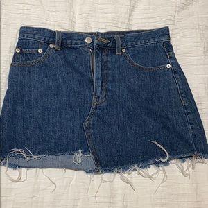 TNA denim mini skirt